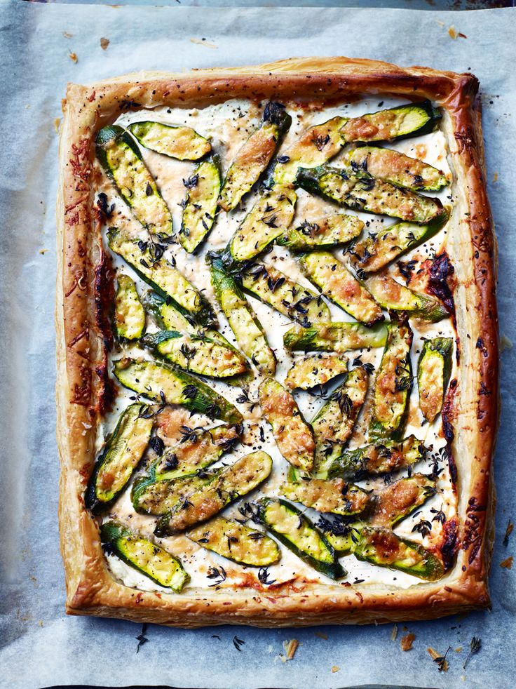 Courgette, Labneh And Thyme Tart
