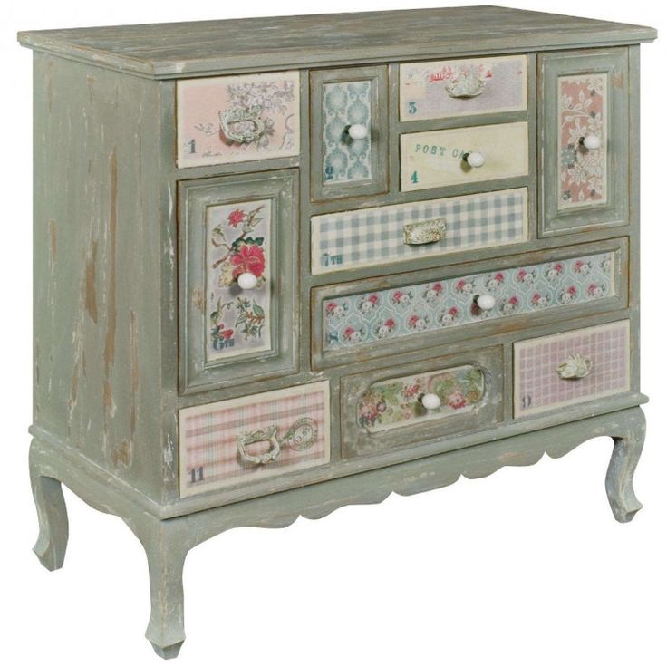 Shabby Chic Patchwork Multi Drawer Chest – Allissias Attic & Vintage French Style