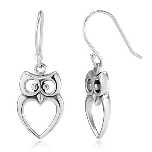 925 Sterling Silver Owl Bird Cut-Out Heart Shaped Dangle Hook Earrings 1.2'' Fashion Jewelry for Women, Teens - Nickel Free null,http://www.amazon.com/dp/B00CGID8G2/ref=cm_sw_r_pi_dp_3-Vdsb126QNYFTHA