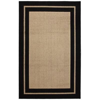 Mohawk home marlow black aureo 8 ft x 10 ft indoor for Faux sisal rugs home depot