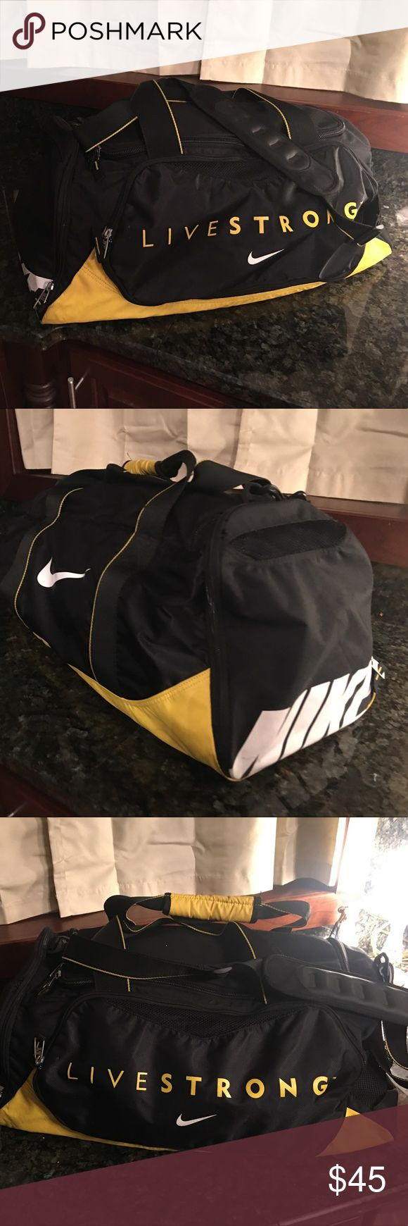 Nike Livestrong rare duffle bag Nike Livestrong duffle bag gently used.... very rare....selling new on eBay for $279....,reasonable offers considered Nike Accessories
