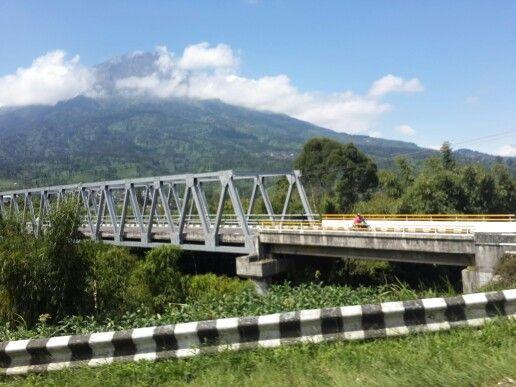 Beautiful Sindoro Mountain in Wonosobo, Central Java, Indonesia