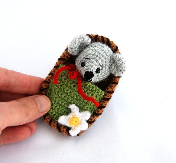 $26.56 #Little #mouse in a #nutshell, #twoinone #giftforchildren, #mouse #toy in a #box, #small #crochet #mouse, #amigurumi #mice, #travel #toy #miniature #mice