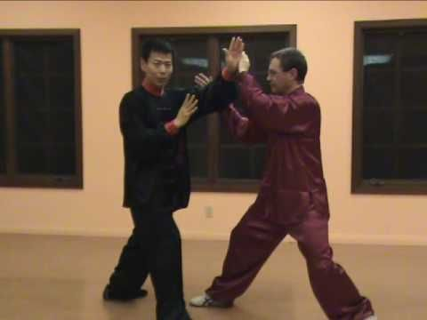 Tai Chi Push Hands Taiji tui-shou. Advanced push hands. First half video demo, 2nd half instructions.