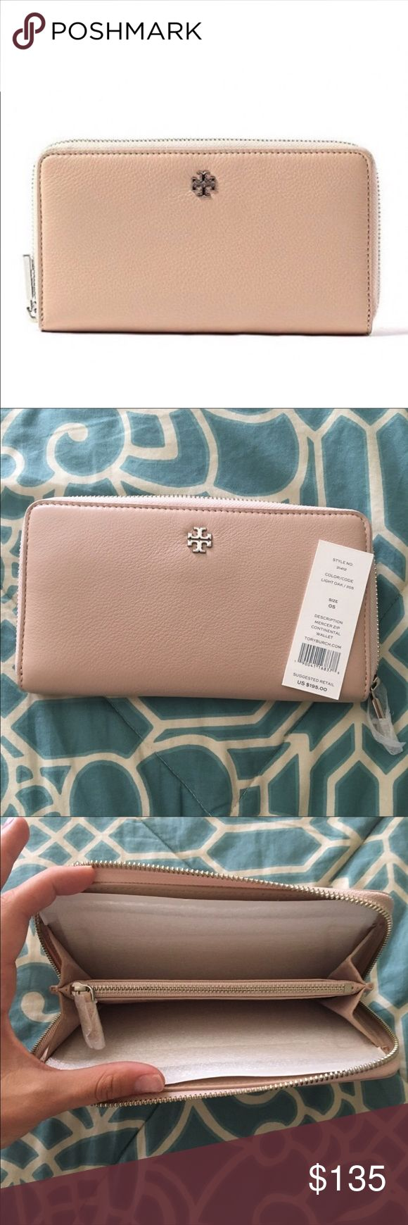 NWT Tory Burch Merced Zip Continental Wallet Color is light cream. Gorgeous wallet!! Bought off here and doesn't match my new bag. Just looking to get back what I paid for it. 😊😊 Tory Burch Bags Wallets