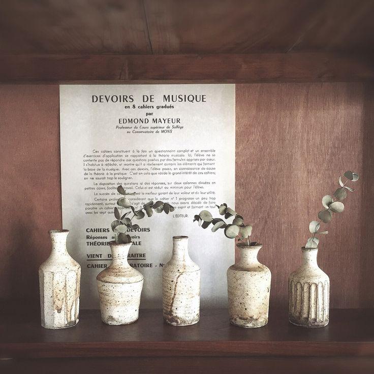 益子焼/一輪挿し/花瓶/ユーカリ ドライ/ドライフラワー/シンプル…などのインテリア実例 - 2014-11-21 11:11:24 | RoomClip(ルームクリップ)