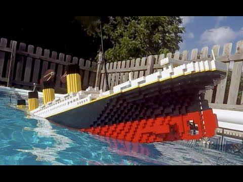 Sinking LEGO Titanic [7 foot model] - YouTube