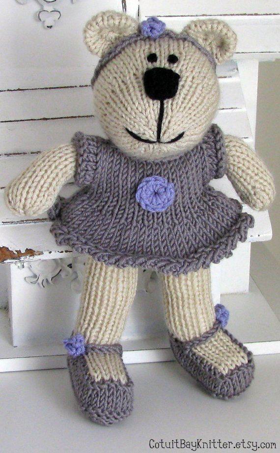 Knitting Patterns Teddy Bear Stuffed Animals : 25+ best ideas about Knitted Stuffed Animals on Pinterest Crochet animals, ...