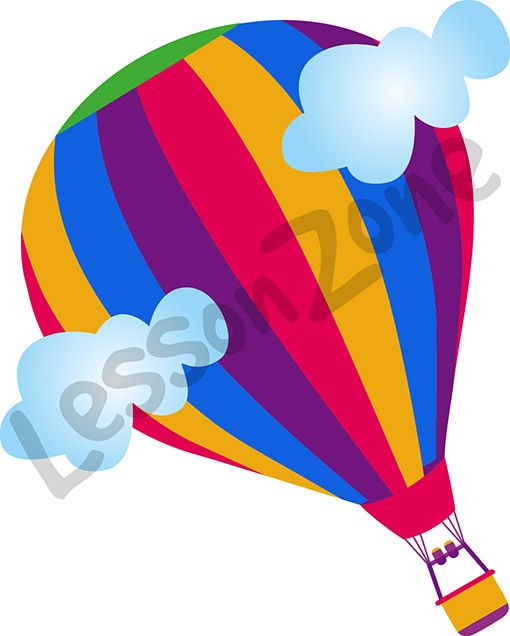 Brighten up your classroom with this beautiful hot air balloon graphic.   This illustration is available in PNG format at 300 DPI resolution with a transparent background for classroom use.   To download, visit lessonzone.com.au