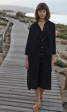 Black shirt dress - Plümo Ltd