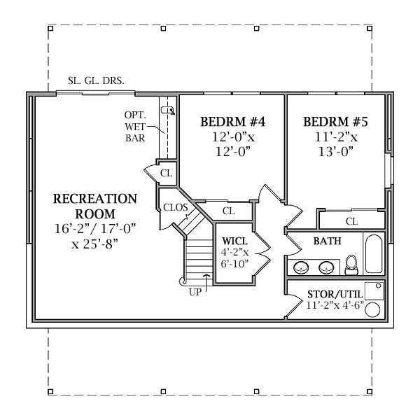 Optional Walk Out Basement Plan Image Of Lakeview 2 House Plan Basement Plans Basement Layout Basement Floor Plans