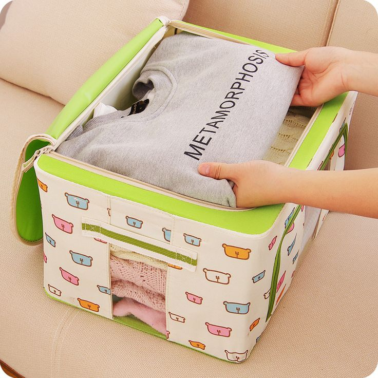 ==> [Free Shipping] Buy Best 1pc big size clothes storage box new arrival clothing organizer oxford cloth folding steel finishing clothes quilt Online with LOWEST Price   32598333543