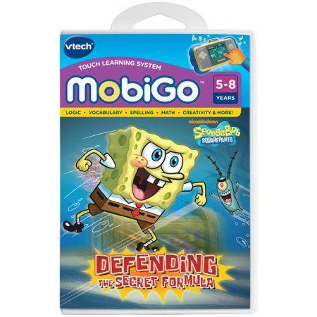 Vtech MobiGo Touch Learning System Game - SpongeBob SquarePants