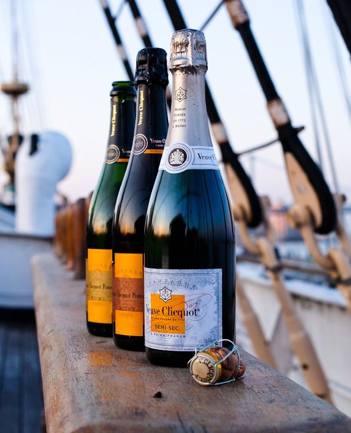 The champagne presented at an exclusive tasting dinner in Philadelphia: Veuve Clicquot Cave Privée Vintage Rosé 1978, Veuve Clicquot Cave Privée Vintage Blanc 1990, and Demi Sec    Yes Please!!!!!