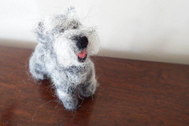 #Needle Felting; #Miniature Schnauzers; #dogs; #craft