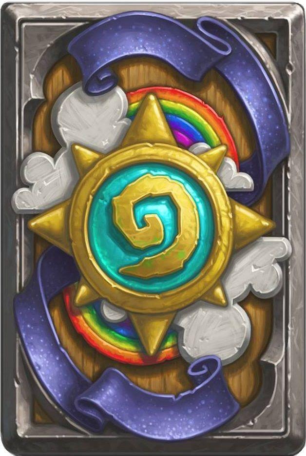 Hearthstone's latest cardback for Ranked Play. I earned mine!