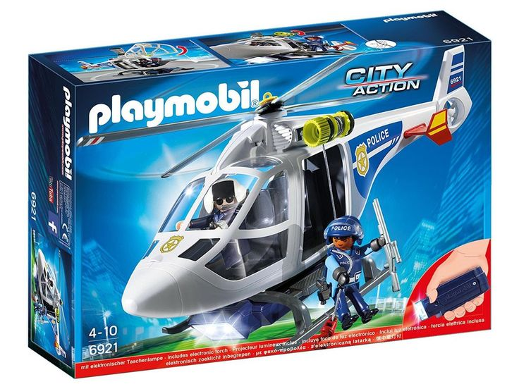 Playmobil City Action Police Helicopter with LED Searchlight