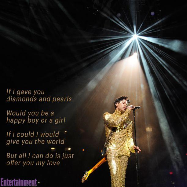 "Prince Lyrics: 10 of His Best Lines | Prince, ""Diamonds and Pearls"" | EW.com"