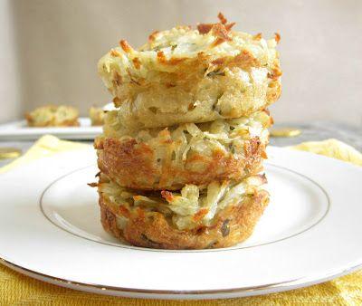Oven Baked Potato Pancakes (Latkes)