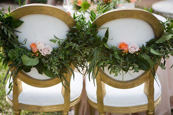 explore peach wedding decor