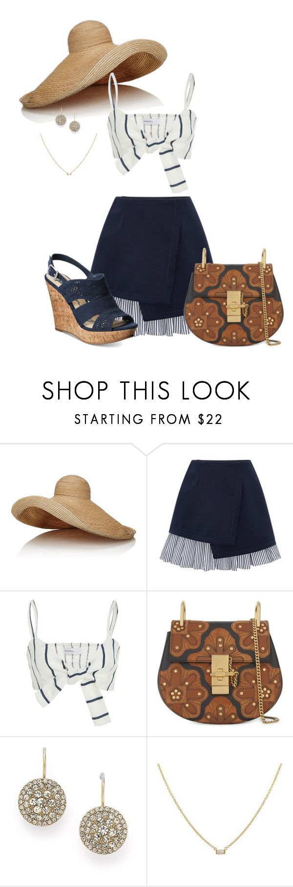 """Untitled #177"" by mmmegs1119 ❤ liked on Polyvore featuring Lola, WithChic, Faithfull, Chloé, FOSSIL and American Rag Cie"