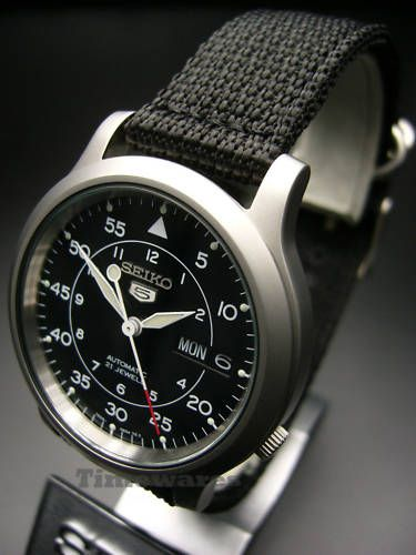 Seiko 5 Military Nylon Band Automatic Watch SNK809K2 |  watch out for fakes! $85