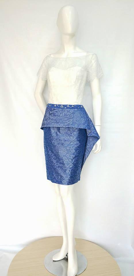 Beautiful Azure Tenun Dress.  Order yours by emailing us at nmayinda@gmail.com or Whatsapp us at 08111047891 or BB us at 2B07B968.