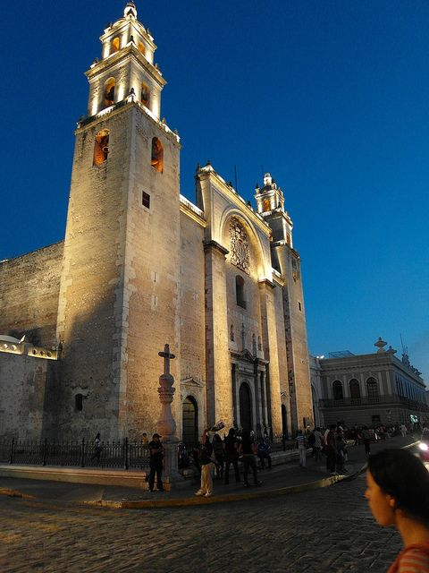 Merida, Mexico...when you walk through the doors of the church your sins are suppose to be gone...we've visted it multiple years in a row!