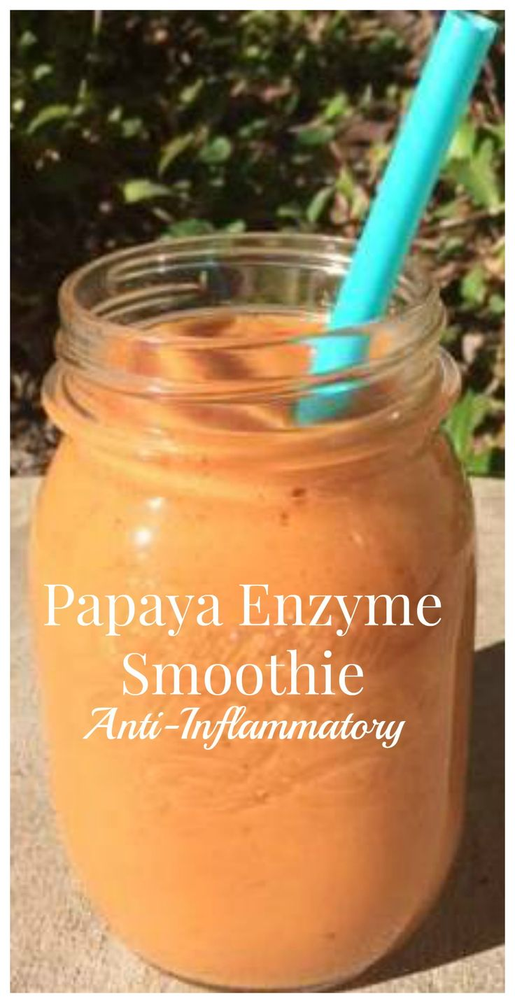 Did you know specific enzymes found in ripe papaya aid in digestion? Try this Anti-Inflammatory Smoothie today!