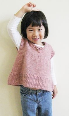 Kid's knitted top - pattern available. 2-8 years