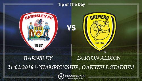 Prediksi Barnsley vs Burton Albion, Prediksi Barnsley vs Burton Albion 21 Februari 2018, Prediksi Bola Barnsley vs Burton Albion, Prediksi Skor Barnsley vs Burton Albion, Pasaran Bola Barnsley vs Burton Albion