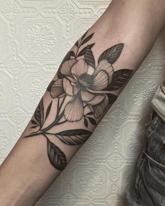 magnolia foot tattoo - photo #28