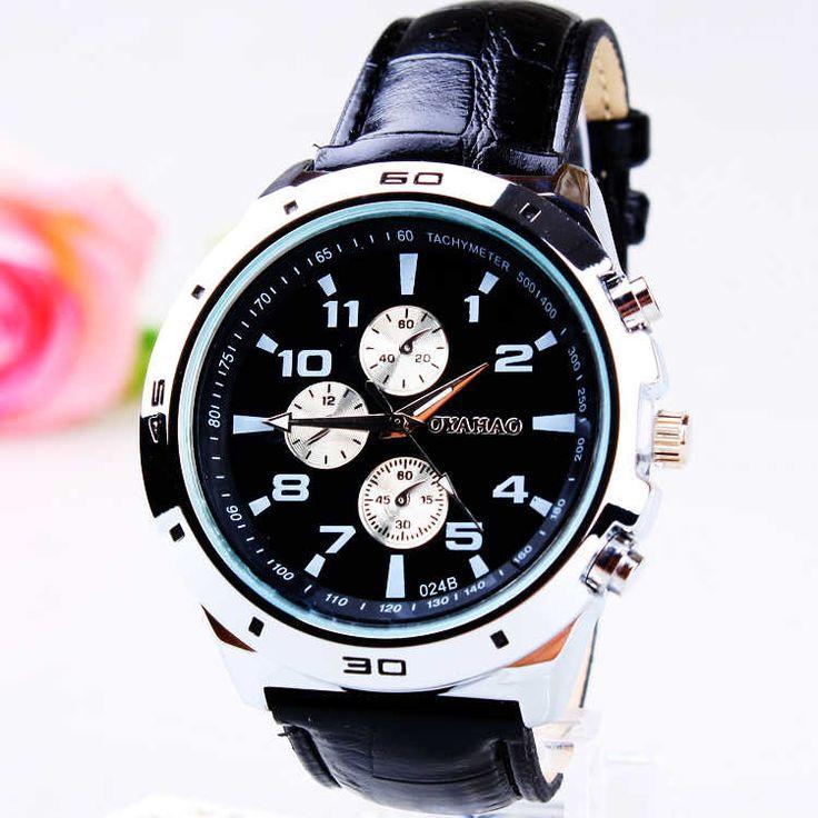 Модные часы свободного покроя иглы мужской кожаный ремешок часы бизнес-часы 164279