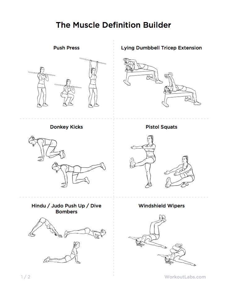 The Muscle Definition Builder Full Body Gym Workout | WorkoutLabs