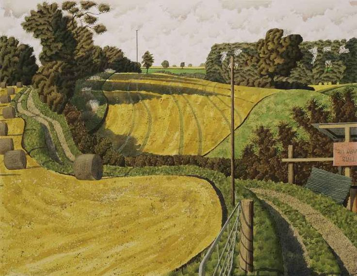"""""""After The Summer Solstice"""" by Simon Palmer (watercolour, ink and gouache)"""