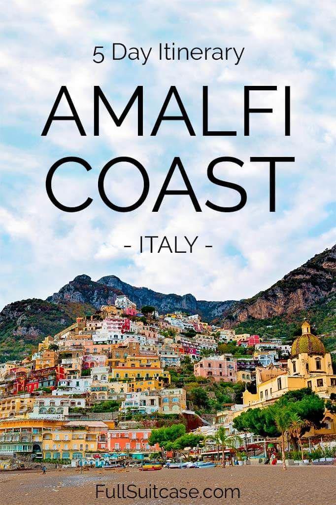 f381db22f7b3 Suggested 5 day itinerary for the Amalfi Coast in Italy #italy #italytravel  #italytrip #italyvacation