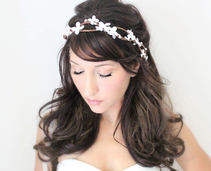 wedding accessories, bridal headpiece, wedding flower crown, Flower crown, rustic head wreath, wedding headband, bridal hair