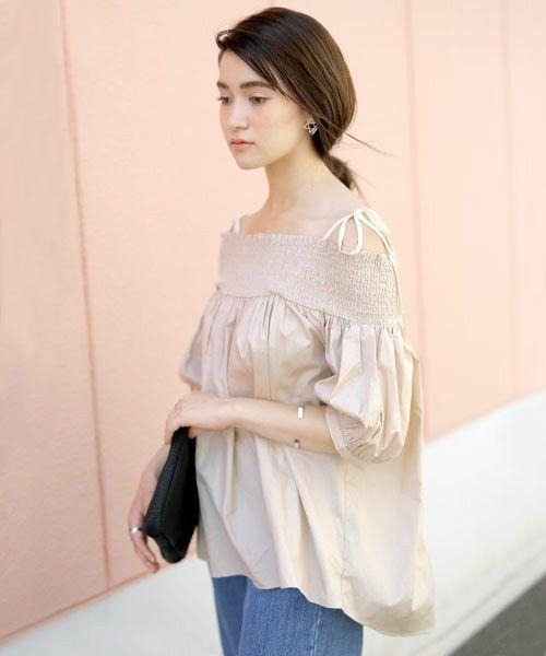 【再入荷】肩リボンオフショルダーバルーンスリーブ半袖ブラウス(シャツ/ブラウス)|select MOCA(セレクトモカ)のファッション通販 - ZOZOTOWN
