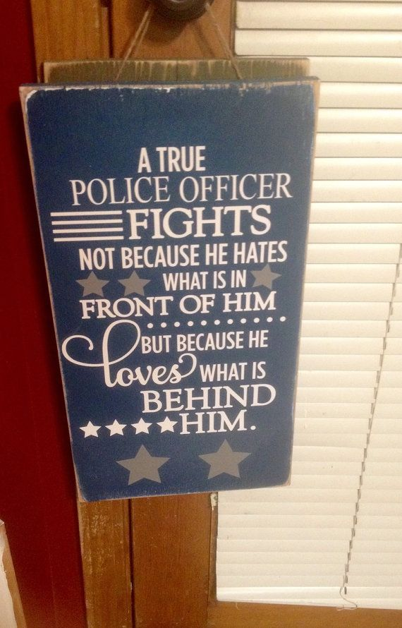 Police officer sign a true police officer by SandJBargainVault