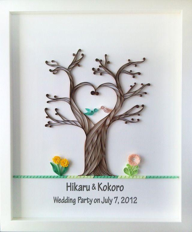 Quilling / minne(ミンネ)| 幸せの木 ウェルカムボード