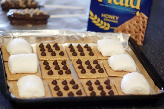 Indoor s'mores treats - variety of optionsSlumber Party Snacks, Indoor Camping Sleepover Ideas, Chocolate, Camping Slumber Party Ideas, Recipe, Christmas Slumber Party, Pop, Smores, Indoor Camping Slumber Party