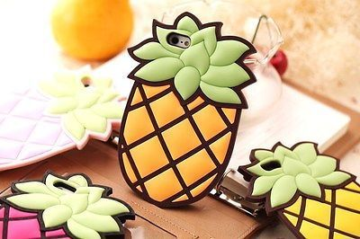 3D Cute Cartoon Pineapple Ananas Fruit Silicon Cover Case for Apple iPhone 4 4S | eBay: