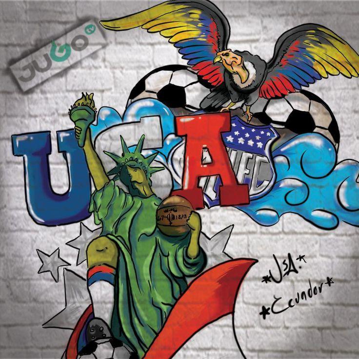 StreetArt Estados Unidos Ecuador #somosJUGOtv