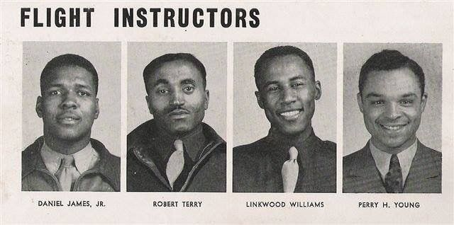 "Flight Instructors Tuskegee 1942.....Daniel ""Chappie"" James first Black four star general in the Air Force."