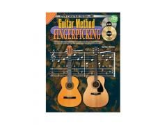 Guitar Method Fingerpicking - Book, CD & DVD CP69071. Introduces right hand fingerpicking patterns that can be used as an accompaniment to any chord, chord progression or song. Covers alternate thumb, arpeggio and constant bass style, as used in Rock, Pop, Folk, Country, Blues Ragtime and Classical music. Now comes with a Bonus FREE DVD! #guitar