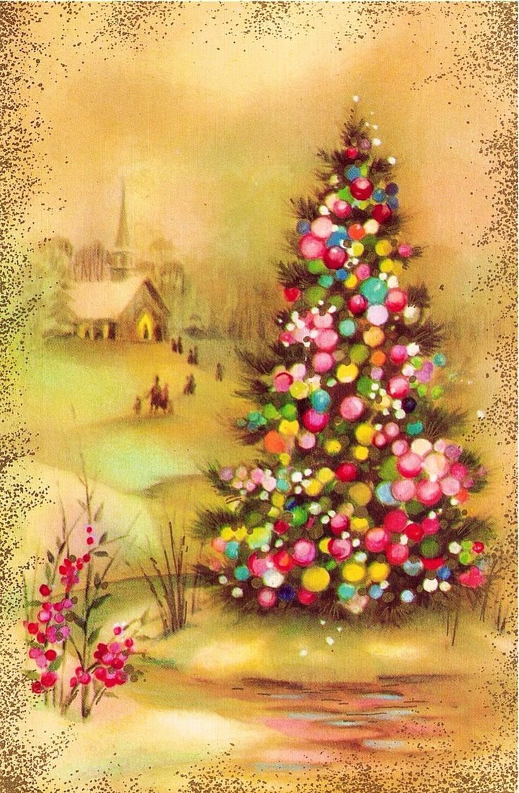 29 Best Pink Christmas Images On Pinterest Old Cards Christmas