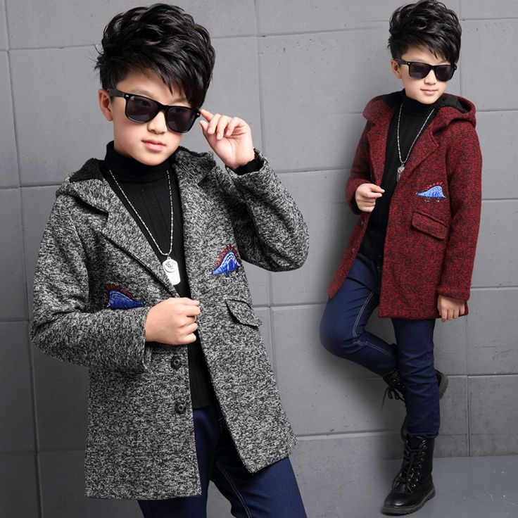(29.86$)  Watch more here - http://aibur.worlditems.win/all/product.php?id=32757954035 - New arrival spring autumn boys jacket hooded casual children outerwear medium-long single-breasted thick woolen boy trench coat