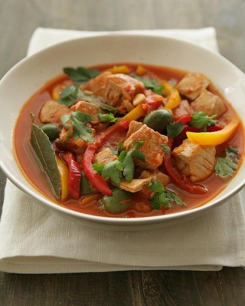 Fresh tuna and red pepper stew by Jill Dupleix. Photo: Marina Oliphant