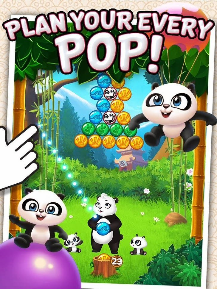 Panda Pop App by SGN. Elimination puzzle game apps. Pop