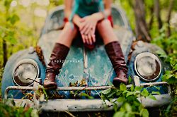 Senior Photo Session Ideas | Props | Prop | Photography | Clothing Inspiration| Fashion | Pose Idea | Poses | Old Car | Volkswagen Beetle Love Bug
